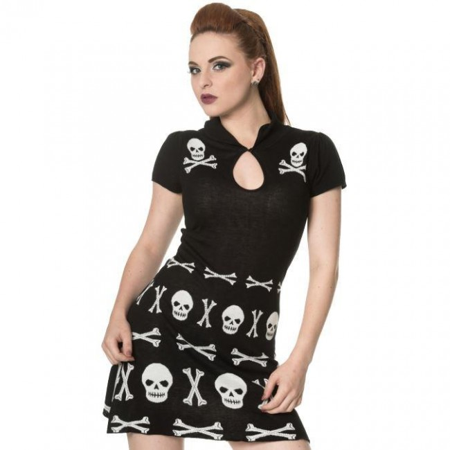 Banned Apparel-After Life Skull Dress