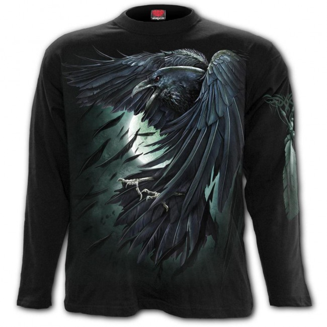Spiral Direct-Shadow Raven Long Sleeved T-shirt