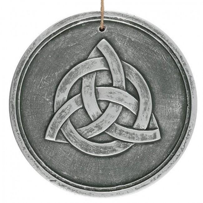Phoenixx Rising-Triquetra Silver Plaque