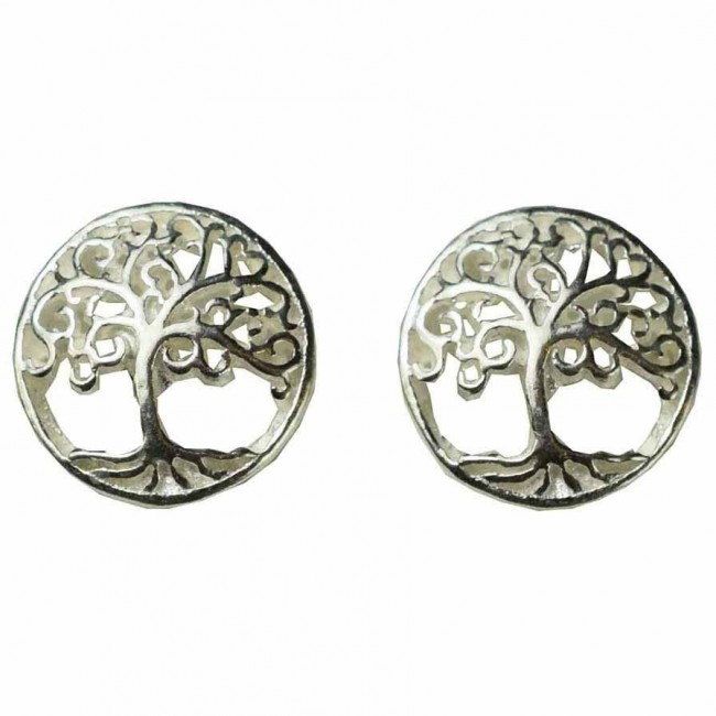Phoenixx Rising-Silver Celtic Tree Earrings