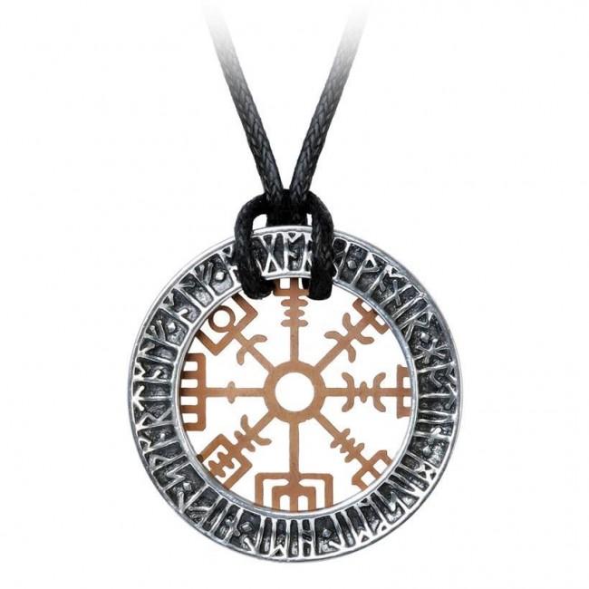 Alchemy Gothic-Niu Heimar Vegvisir Necklace