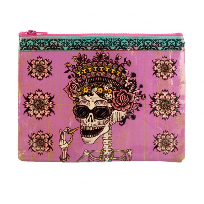Blue Q-Day of the Dead Pouch