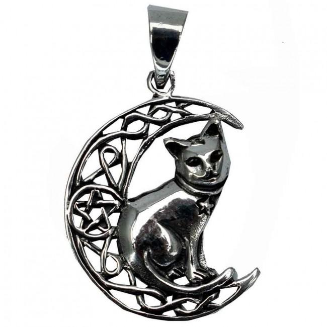Lisa Parker-Moon Cat With Pentagram Pendant