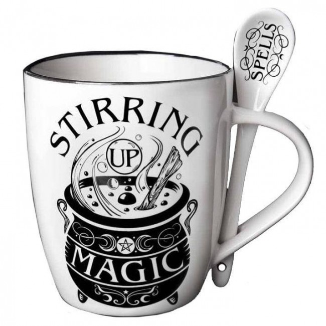 Alchemy Gothic-Stirring Up Magic Mug and Spoon Set