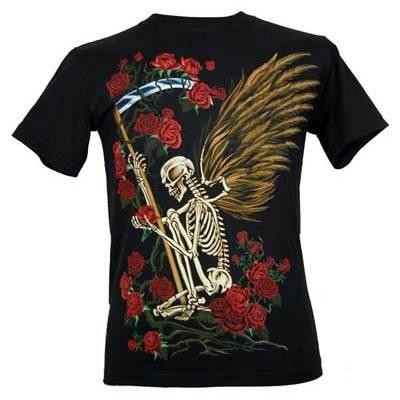 Cleo Gifts-Winged Skeleton T-shirt