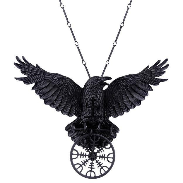 Restyle-Helm Of Awe Raven Pendant