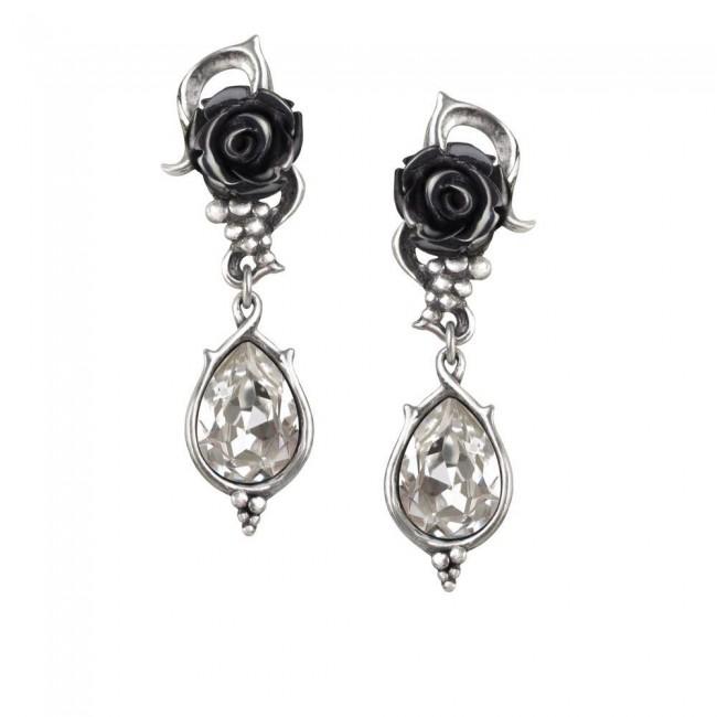 Alchemy Gothic-Bacchanal Rose Earrings