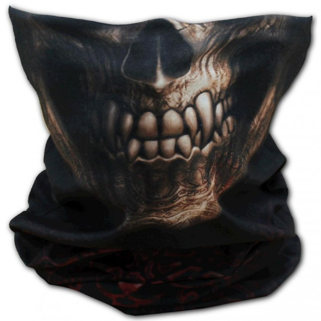 Spiral Direct-Goth Skull Face Wrap