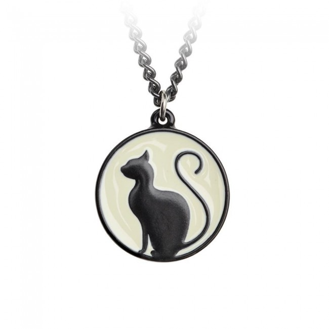 Alchemy Gothic-Meow at the Moon Pendant