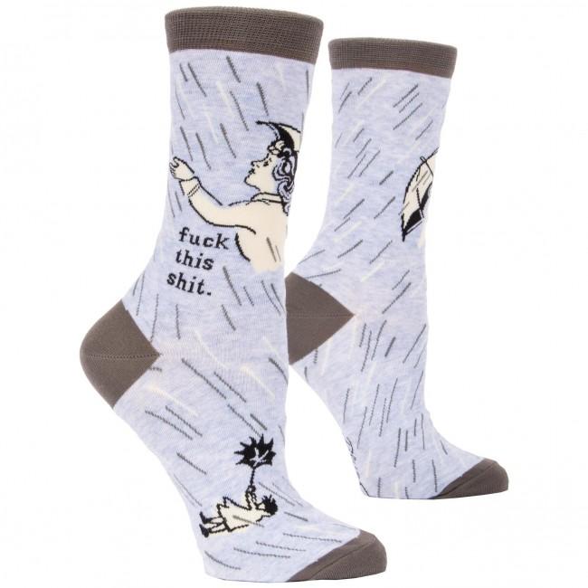 Blue Q-Fuck This Shit Socks