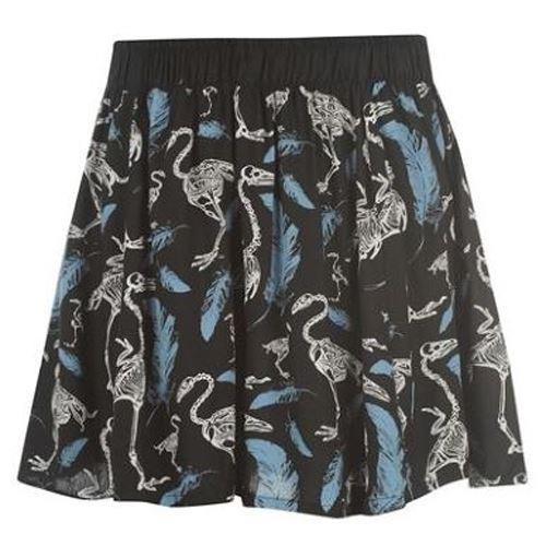 Cold Heart-Swan Skeleton Skirt
