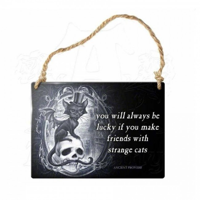 Alchemy Gothic-Strange Cats Wall Plaque