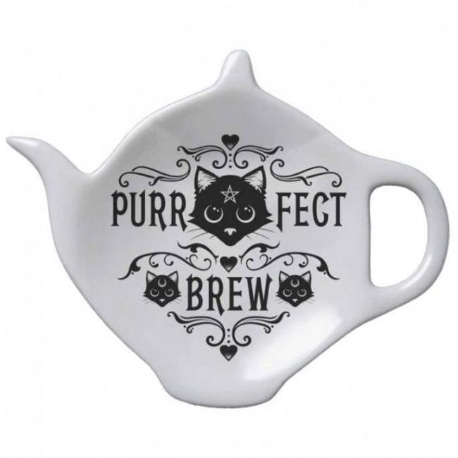 Alchemy Gothic-Purrfect Brew Tea Spoon Rest