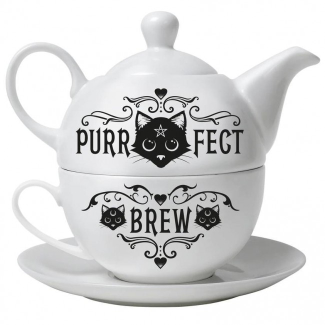 Alchemy Gothic-Purrfect Brew Hex Tea Set