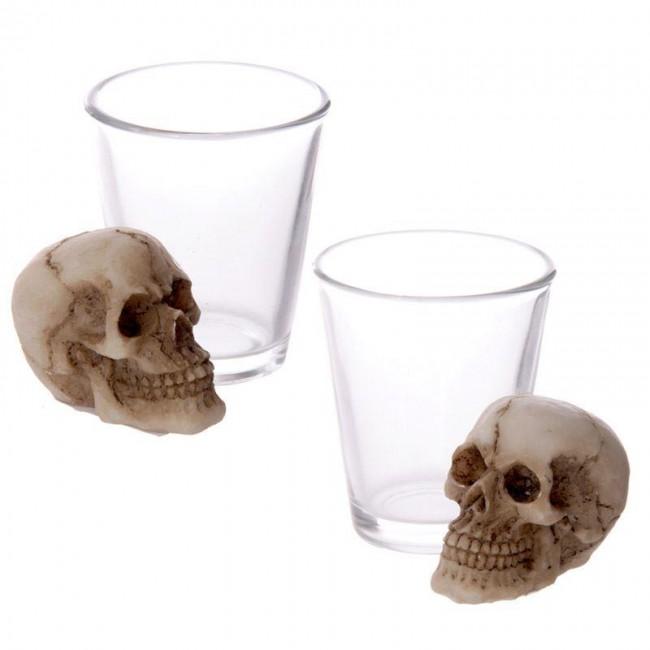 Puckator-Shot Glass with Skull