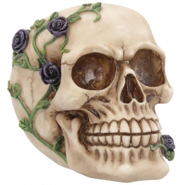 Nemesis Now-Purple Rose Vine Skull