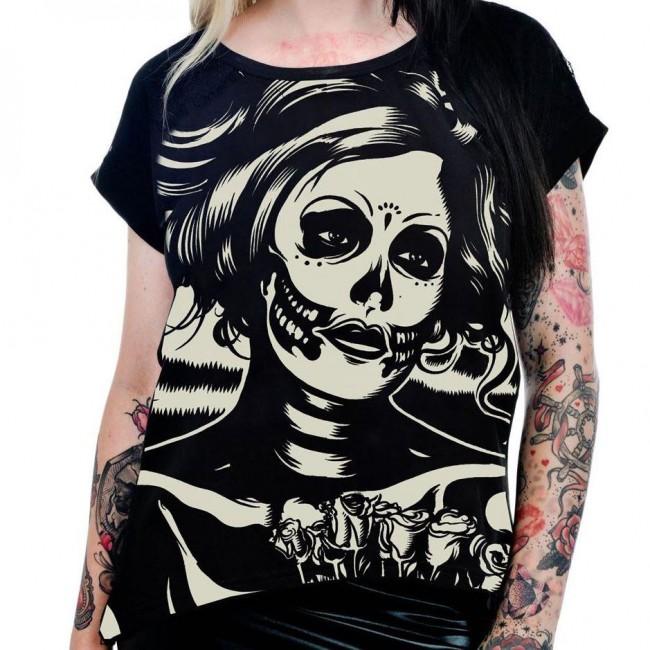 Too Fast-Senorita Skull T-shirt