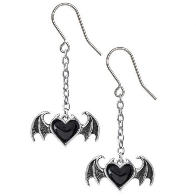Alchemy Gothic-Black Soul Earrings