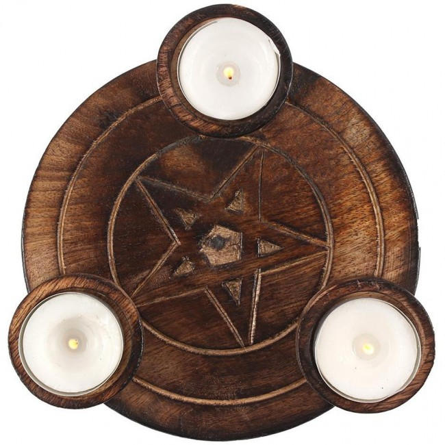 Something Different-Pentagram Tea Light Candle Holder
