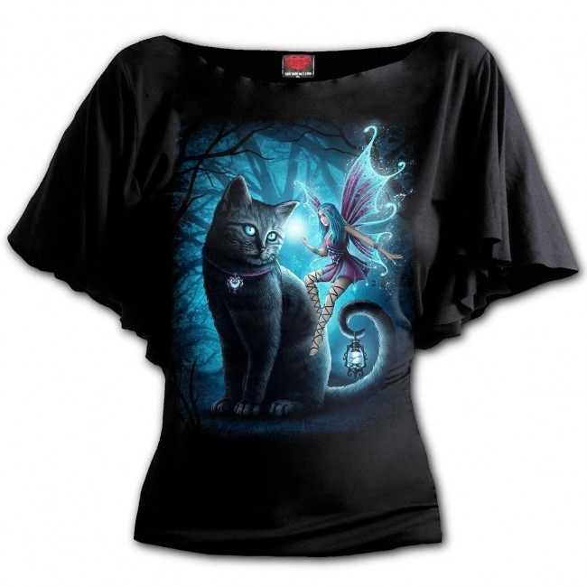 Spiral Direct-Cat Fairy Boat Neck Top