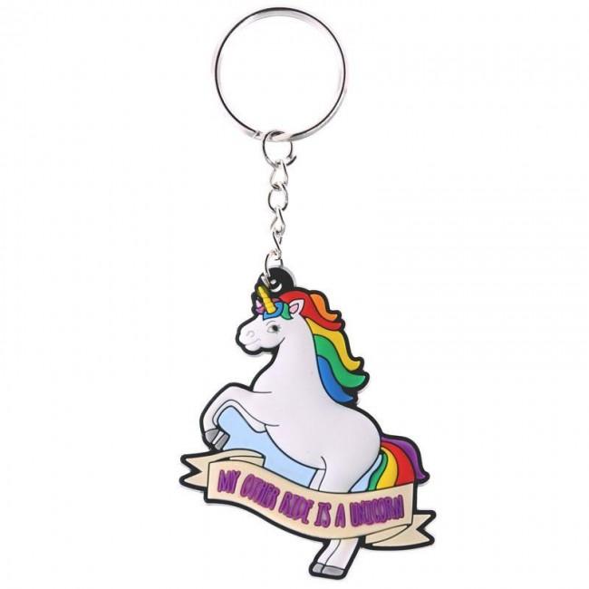 Puckator-Unicorn Ride Keyring