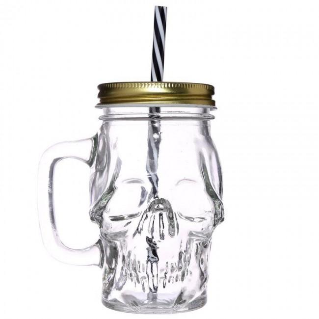 Puckator-Skull Glass Drinking Jar
