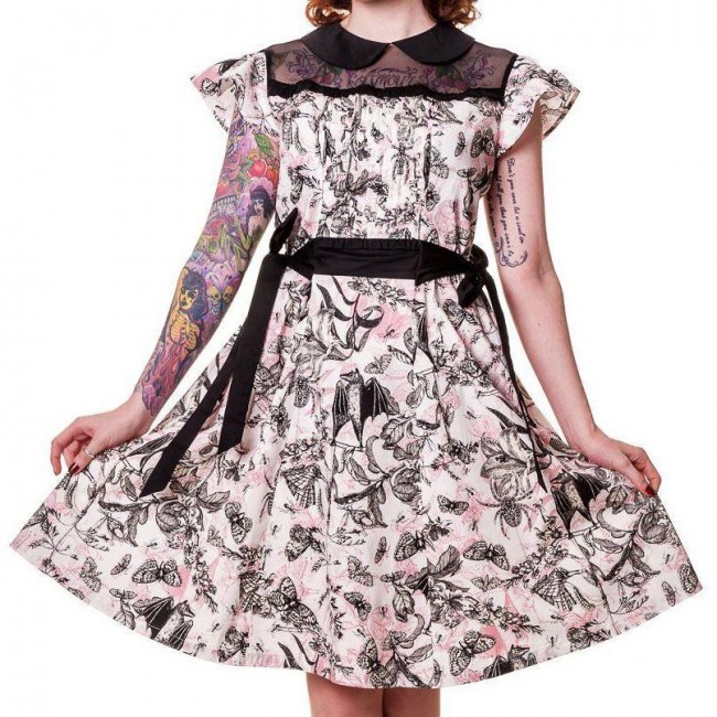 Banned Apparel-Bats And Butterflies Dress