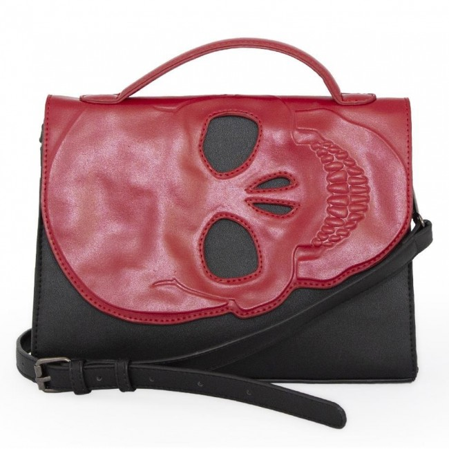 Banned Apparel-Tenebris Skull Bag