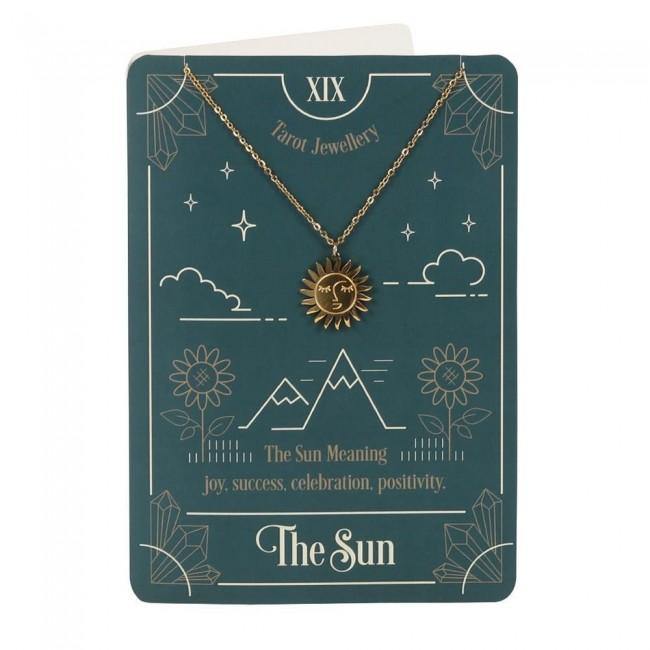Phoenixx Rising-The Sun Tarot Necklace Card