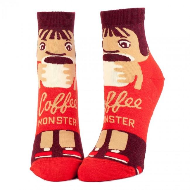 Blue Q-Coffee Monster Ankle Socks