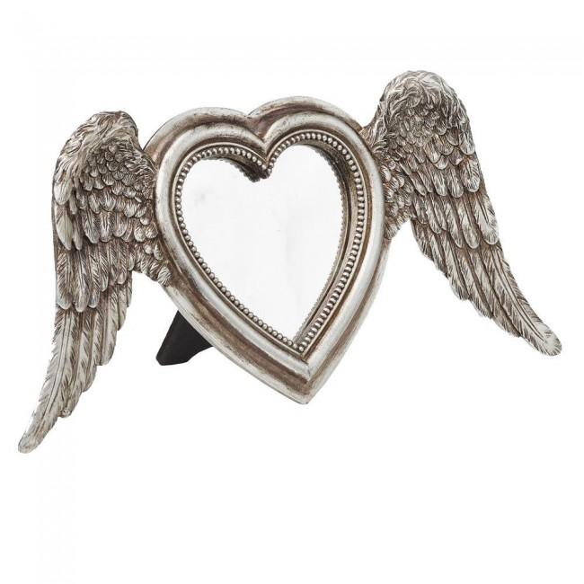 Alchemy Gothic-Winged Heart Mirror