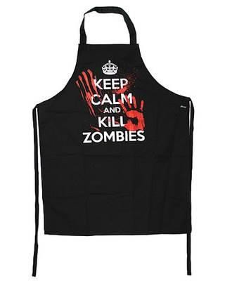 Darkside Clothing-Keep Calm and Kill Zombies Horror Kitchen Apron