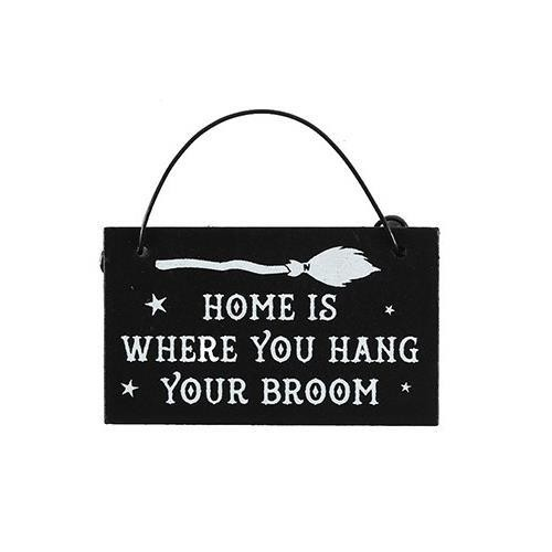 Phoenixx Rising-Hang Your Broom Witchy Mini Sign