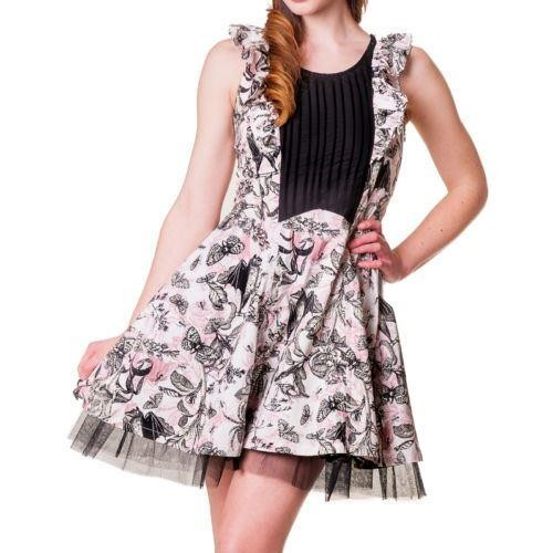 Banned Apparel-Bats And Butterflies Ruffle Dress
