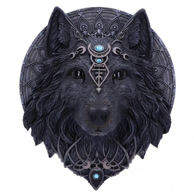 Nemesis Now-Magical Wolf Moon Plaque
