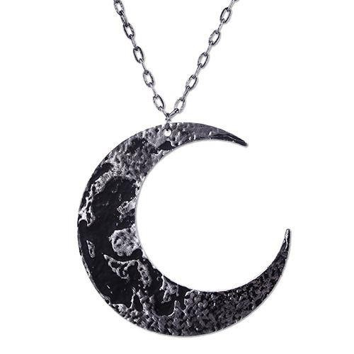 Restyle-Textured Moon Crescent Pendant