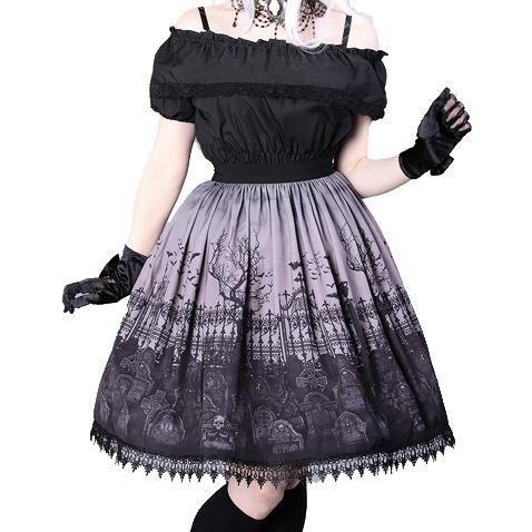 Restyle-Graveyard Lolita Skirt