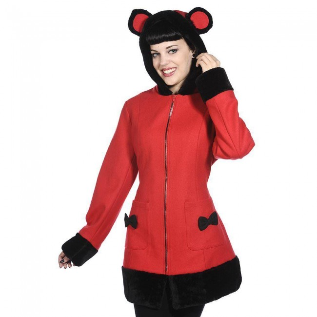 Banned Apparel-Panda Ears Coat