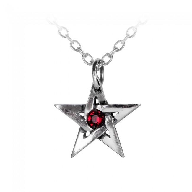 Alchemy Gothic-Crystal Pentagram Pendant