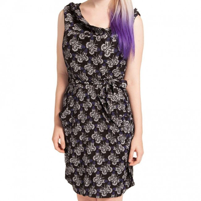 Cold Heart-Boney Butterfly Drape Dress