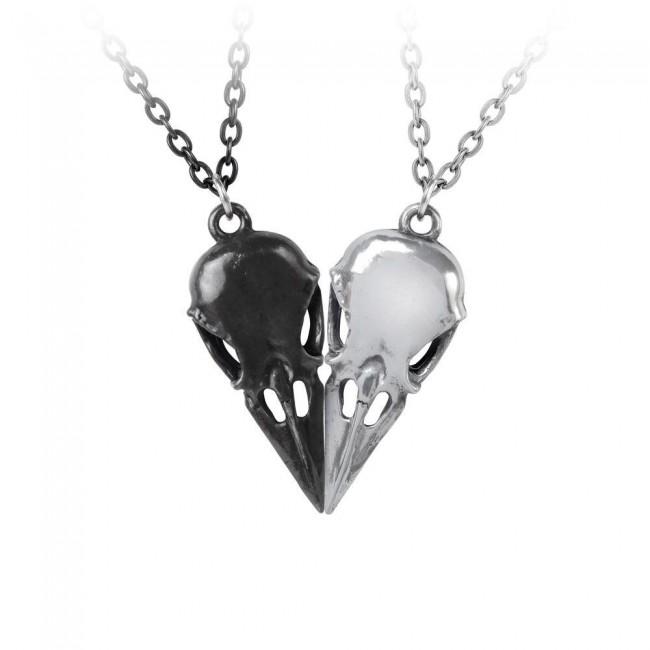Alchemy Gothic-Coeur Crane Pendant