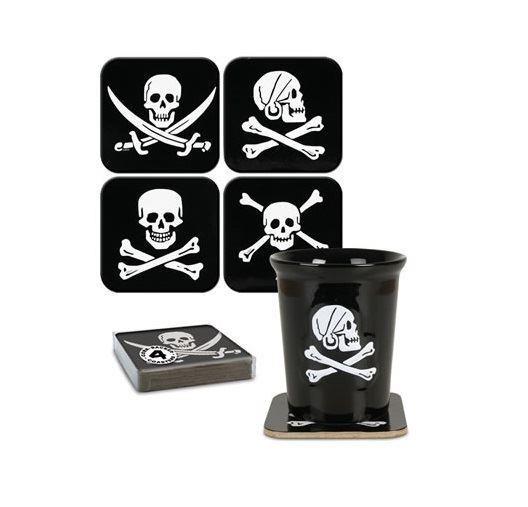 Cleo Gifts-Pirate Coaster Set