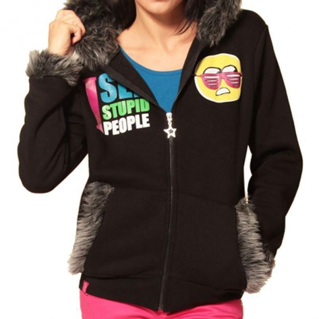 Flip Flop And Fangs-I See Stupid People Hooded Top