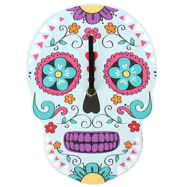 Something Different-Sugar Skull Clock