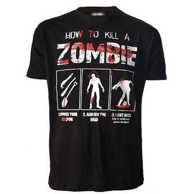 Darkside Clothing-How To Kill A Zombie T-shirt