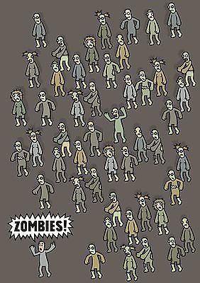 Genki Gear-Zombies Cute Comedy Horror Poster