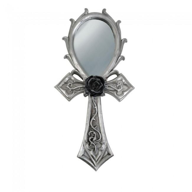 Alchemy Gothic-Gothic Ankh Hand Mirror