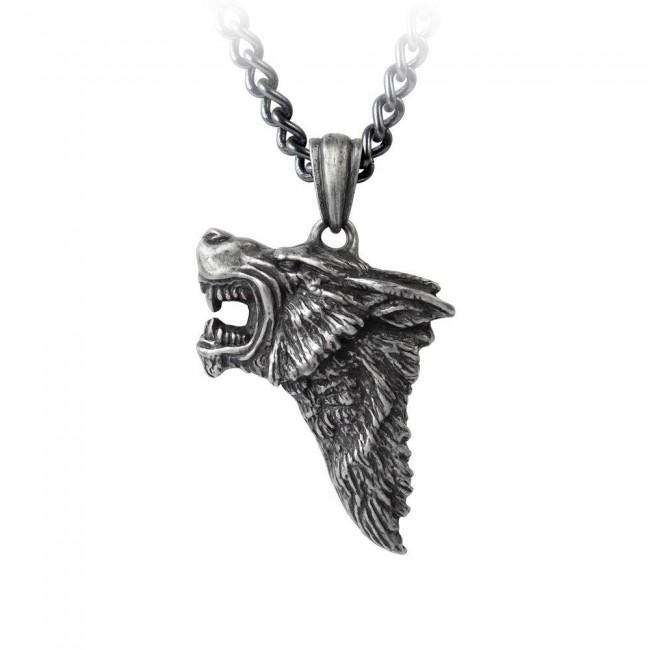Alchemy Gothic-Dark Wolf Pendant
