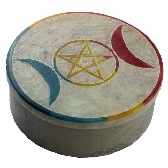 Phoenixx Rising-Moon Goddess Soapstone Box