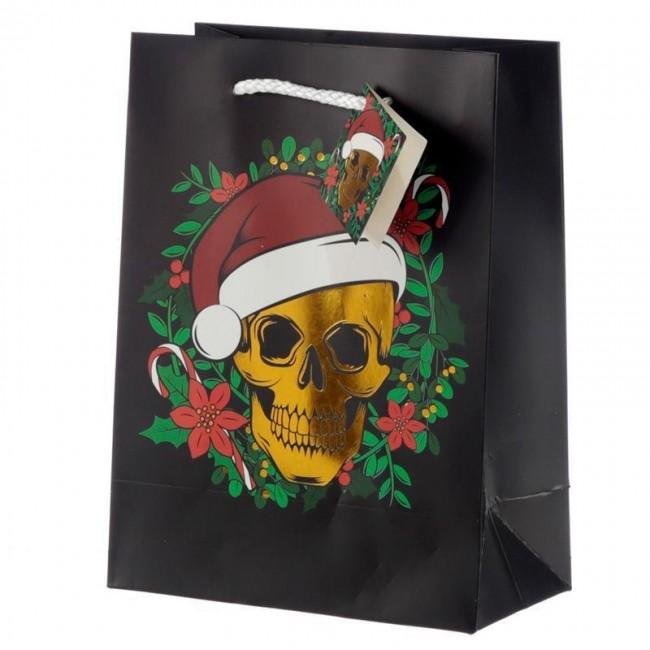 Phoenixx Rising-Christmas Skull Gift Bag